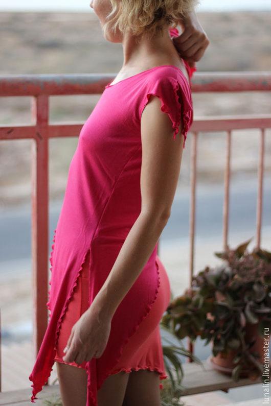 Юбки ручной работы. Ярмарка Мастеров - ручная работа. Купить Ассиметричная Mини юбка для йоги. Handmade. Мини юбка, трикотаж