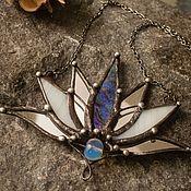Украшения handmade. Livemaster - original item Nine-winged Lotus with Opalite (p-020-11). Handmade.