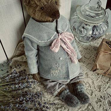 Куклы и игрушки ручной работы. Ярмарка Мастеров - ручная работа Мишка в носочках 24 см. Handmade.