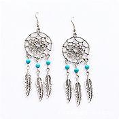 Украшения handmade. Livemaster - original item Turquoise earrings that sing in the wind Catcher. Handmade.