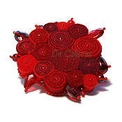 Украшения handmade. Livemaster - original item Brooch Red Energy. Handmade.