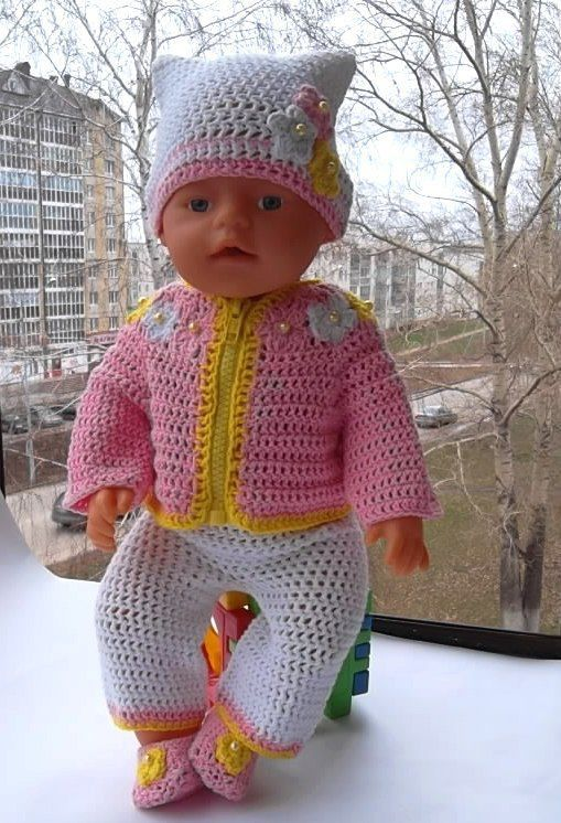 """Одежда для кукол ручной работы. Ярмарка Мастеров - ручная работа. Купить Комплект """"Тёпленький""""(шапка,кофта,брючки,туфельки). Handmade."""