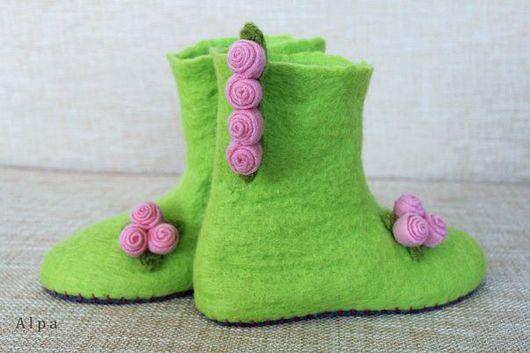 Обувь ручной работы. Ярмарка Мастеров - ручная работа. Купить ШУНи. Handmade. 100% шерсть, шерсть