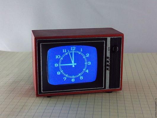 """Кукольный дом ручной работы. Ярмарка Мастеров - ручная работа. Купить Действующая модель телевизора """"Рубин 401""""   1:12. Handmade."""