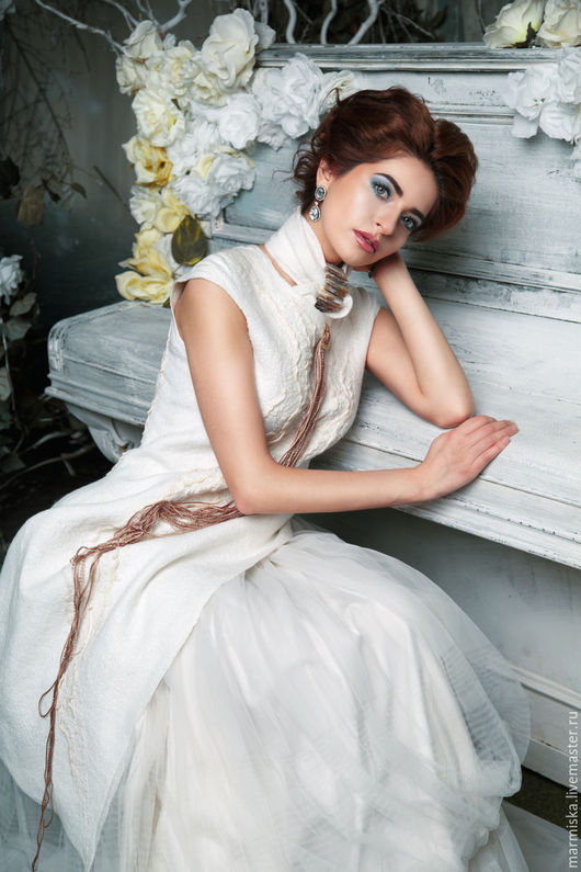 Платья ручной работы. Ярмарка Мастеров - ручная работа. Купить Свадебноеили вечернее платье ЭТНО. Handmade. Однотонный, дизайнерское платье