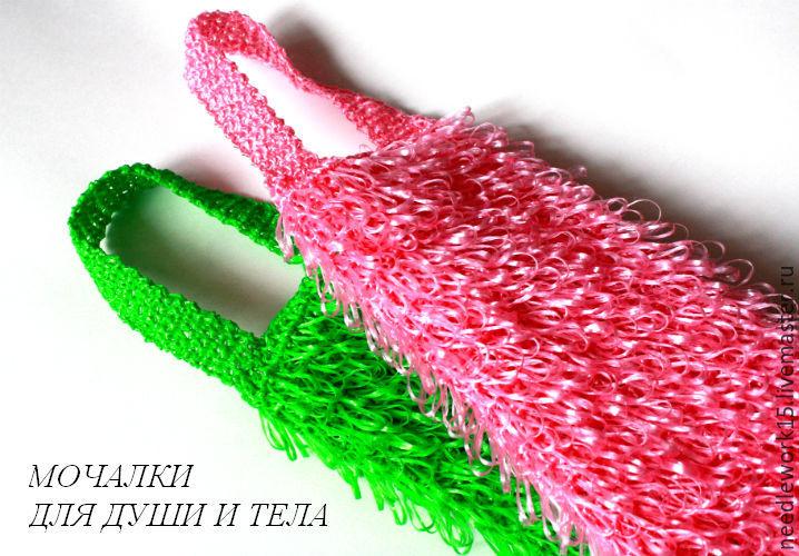 Вязание банных мочалок крючком 71