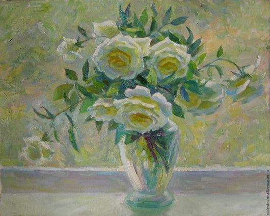 Картины цветов ручной работы. Ярмарка Мастеров - ручная работа. Купить Натюрморт с дикими розами(диптих). Handmade. Комбинированный, натюрморт с цветами
