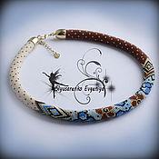 """Necklace handmade. Livemaster - original item Жгут из бисера колье """"Вилмонт"""". Handmade."""