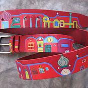 Аксессуары handmade. Livemaster - original item The CITY is FABULOUS belt leather. Handmade.