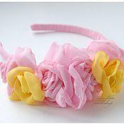 """Украшения ручной работы. Ярмарка Мастеров - ручная работа Ободок для волос с бутонами роз """"Цветение"""". Handmade."""