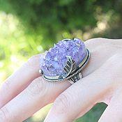 Украшения handmade. Livemaster - original item Ring with raw amethyst in 925 silver ALS0019. Handmade.