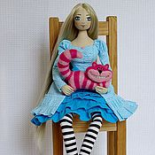 Куклы и игрушки ручной работы. Ярмарка Мастеров - ручная работа Алиса и Чеширский Мурлыка. Handmade.