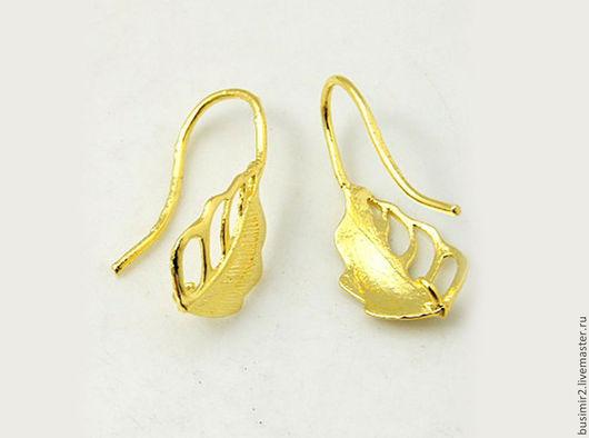 Швензы, цвет - золото. Размер 20х9 мм. Пуссеты и швензы для создания украшений. Busimir