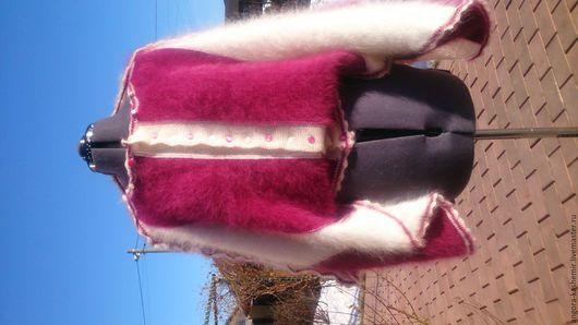 Кофты и свитера ручной работы. Ярмарка Мастеров - ручная работа. Купить Кокон трансформер, кардиган, кофта, палантин.. Handmade. Фуксия