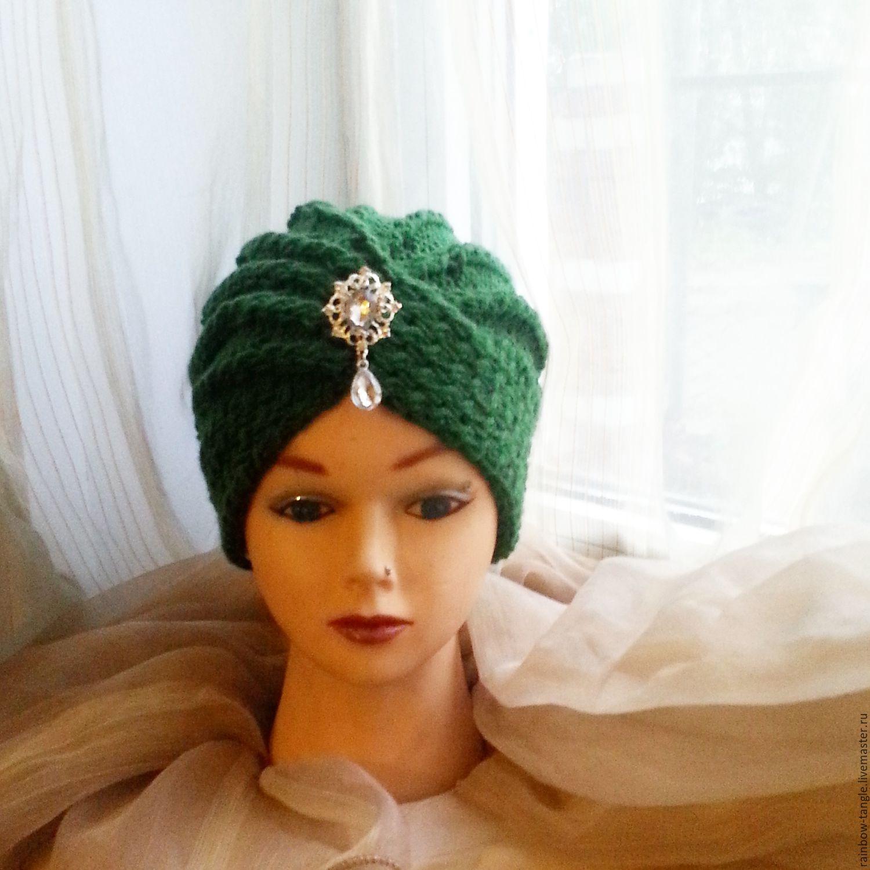 Вязание шапки чалма