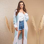 Одежда handmade. Livemaster - original item Blue cardigan with zigzags. Handmade.