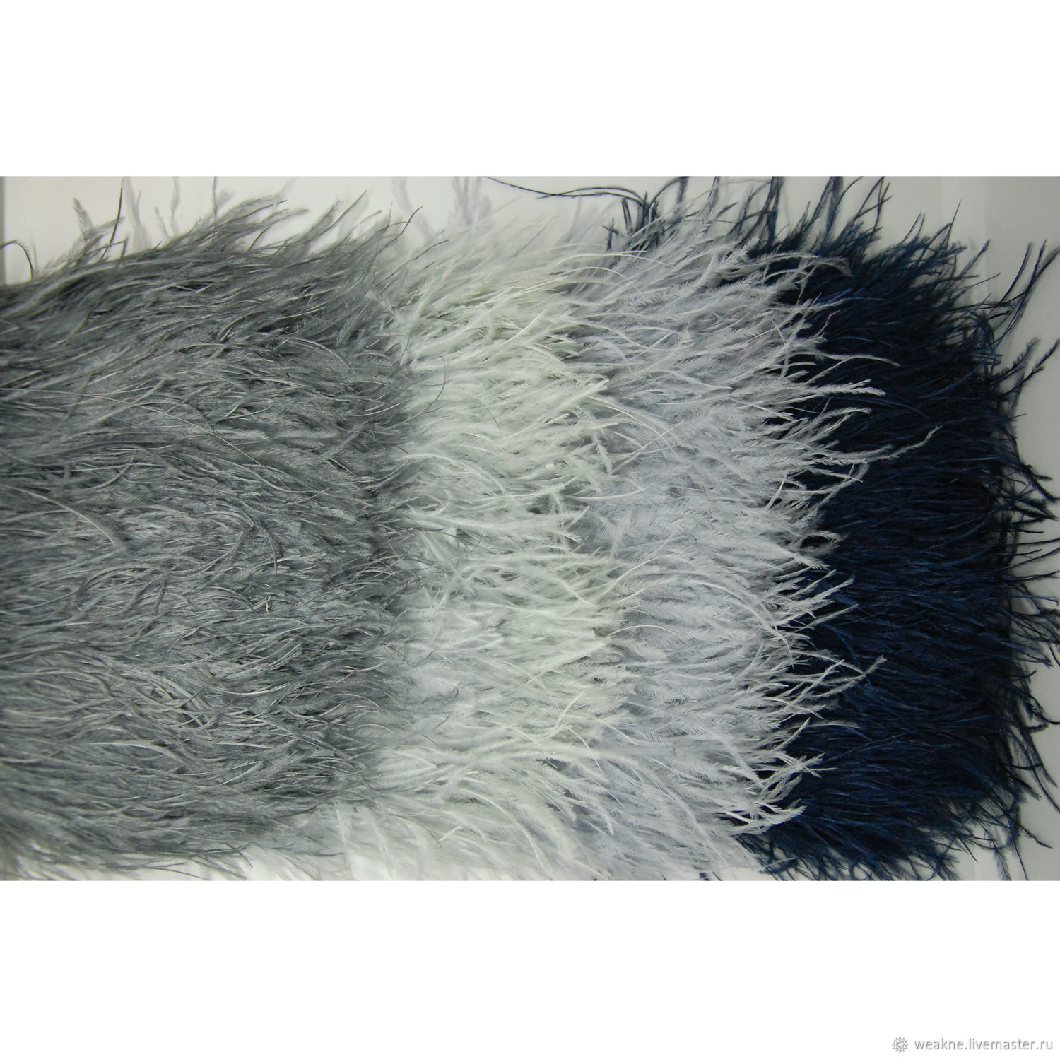 Ostrich feather braid 10-15 cm different colors, braid, Moscow,  Фото №1