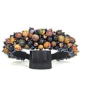 Украшения handmade. Livemaster - original item Rim of beads and stones (jasper, shungite, cat`s eye). Handmade.