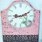 """Для дома и интерьера ручной работы. Ярмарка Мастеров - ручная работа Часы """"Розы и кружева"""". Handmade."""
