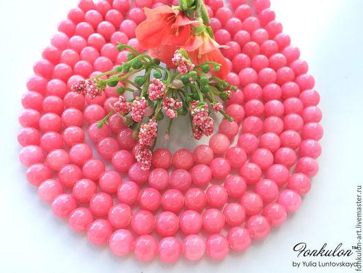 Для украшений ручной работы. Ярмарка Мастеров - ручная работа. Купить Жадеит Розовый Щербет бусины 10мм Гладкий. Handmade.