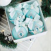 Сувениры и подарки handmade. Livemaster - original item Christmas decorations: turquoise. Handmade.