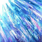 """Картины и панно ручной работы. Ярмарка Мастеров - ручная работа Картина акварелью """"Луг"""". Handmade."""