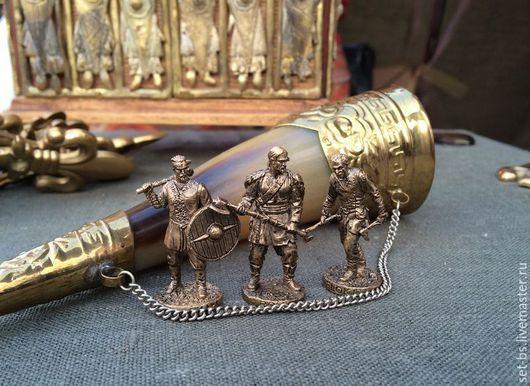 Подарки для мужчин, ручной работы. Ярмарка Мастеров - ручная работа. Купить Викинги в бронзе. Handmade. Золотой, солдатики, Фильм, секира