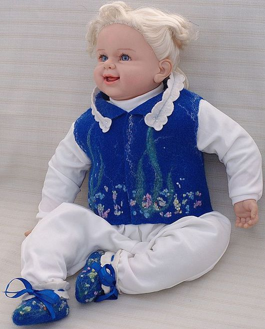 """Для новорожденных, ручной работы. Ярмарка Мастеров - ручная работа. Купить Комплект для новорожденного """"Морские камушки"""". Handmade. Пинетки"""