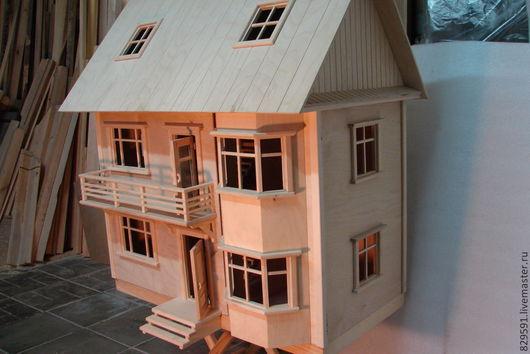 Кукольный дом ручной работы. Ярмарка Мастеров - ручная работа. Купить кукольный дом. Handmade. Эксклюзивный подарок, деревянный дом