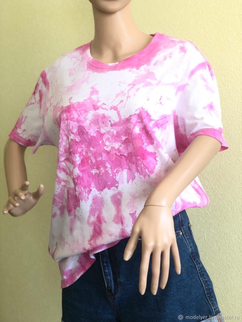t-shirt: Pink short sleeve t-shirt / cotton, T-shirts, Moscow,  Фото №1