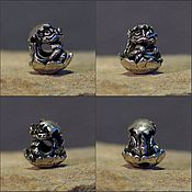 Материалы для творчества handmade. Livemaster - original item Hetched Little Dragon charm. Handmade.