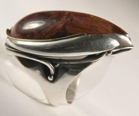 """Кольца ручной работы. Ярмарка Мастеров - ручная работа. Купить Кольцо с питерситом """"Солярис"""". Handmade. Кольцо с питерситом, Студия Морская"""