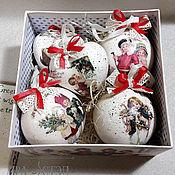 Подарки к праздникам handmade. Livemaster - original item Set of Christmas toys in a box