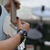Украшения handmade. Livemaster - original item Leather bracelet Bold. Handmade.