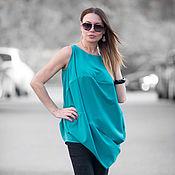 Одежда handmade. Livemaster - original item Summer fashionable tunic from polyviscose - TP0276PLV. Handmade.