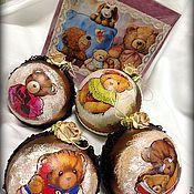 """Подарки к праздникам ручной работы. Ярмарка Мастеров - ручная работа """"Ретро мишки"""". Handmade."""