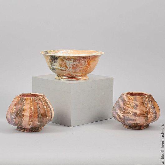 Винтажные предметы интерьера. Ярмарка Мастеров - ручная работа. Купить набор из трех ваз, Arabia. Handmade. Бежевый, набор ваз