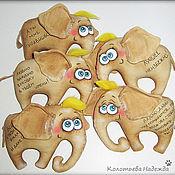 Куклы и игрушки ручной работы. Ярмарка Мастеров - ручная работа Слоники позитивные. Handmade.