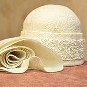 """Аксессуары ручной работы. Ярмарка Мастеров - ручная работа комплект из шапочки и шарфа """"Топленое молоко"""". Handmade."""