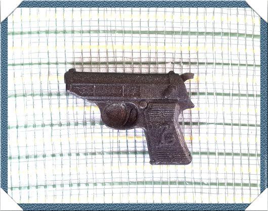 """Материалы для косметики ручной работы. Ярмарка Мастеров - ручная работа. Купить 2D Силиконовая форма для мыла """"Пистолет"""". Handmade."""