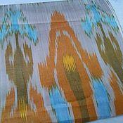 Материалы для творчества ручной работы. Ярмарка Мастеров - ручная работа Узбекский хлопковый икат ручного ткачества Тюльпаны. Handmade.