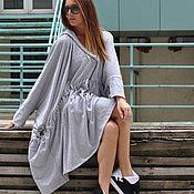 Одежда handmade. Livemaster - original item Asymmetrical tunic with hood-TU0433W2. Handmade.