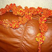 Аксессуары ручной работы. Ярмарка Мастеров - ручная работа шарф-цветы. Handmade.