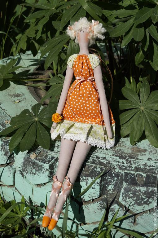 Куклы Тильды ручной работы. Ярмарка Мастеров - ручная работа. Купить кукла Холли. Handmade. Оранжевый, тильда, кукла в подарок