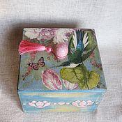 """Для дома и интерьера ручной работы. Ярмарка Мастеров - ручная работа Шкатулка для чая, для сладостей """"Тропиканка"""". Handmade."""