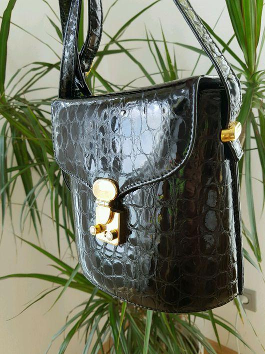 Винтажные сумки и кошельки. Ярмарка Мастеров - ручная работа. Купить Оригинальная кожаная сумочка. Handmade. Винтаж, кожа, стильная сумка