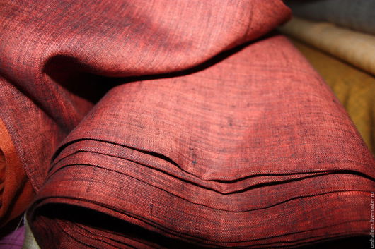 Шитье ручной работы. Ярмарка Мастеров - ручная работа. Купить Ткань костюмная- меланж. Handmade. Комбинированный, лен, белорусский лен