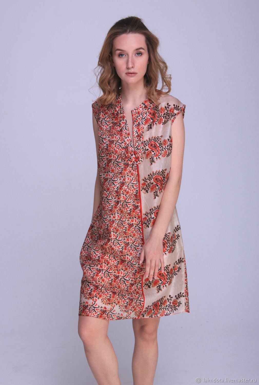 dab40bf92d4 ручной работы. Ярмарка Мастеров - ручная работа. Купить Лёгкое летнее платье  из натурального индийского ...