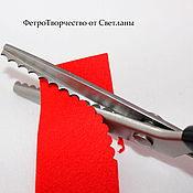 """Инструменты для шитья ручной работы. Ярмарка Мастеров - ручная работа Фигурные ножницы """"Волна """"3 мм , 5 мм ,7 мм. Handmade."""