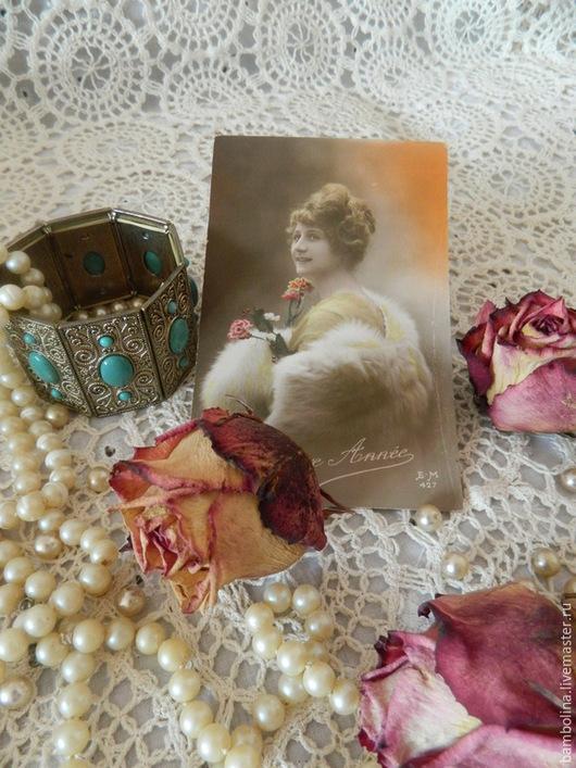 """Винтажные предметы интерьера. Ярмарка Мастеров - ручная работа. Купить Антикварная открытка-фотография из коллекции """"Art Deco Lady"""". Handmade."""
